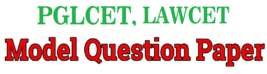 APLAWCET / APPGLCET Model Paper 2020, APLAWCET / APPGLCET Question Paper 2020 With Answer Key