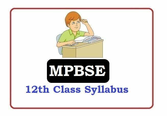 MP 12th Class Syllabus 2020, MP 12th Syllabus 2020