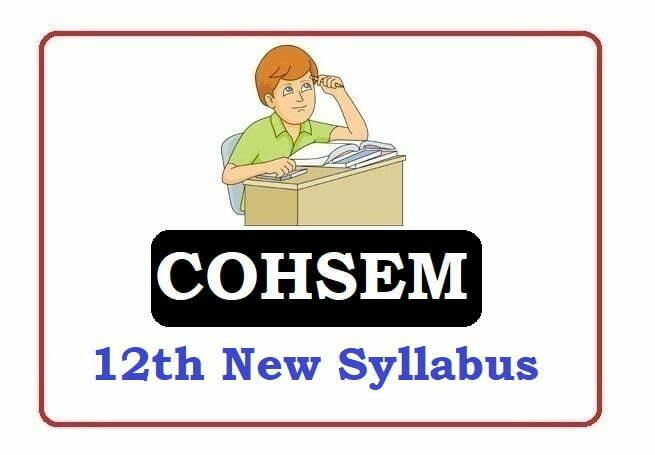 Manipur 12th Syllabus 2021