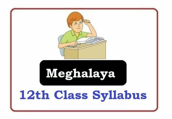 Meghalaya Board 12th Syllabus 2021