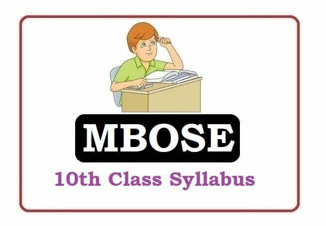 Meghalaya SSLC Syllabus 2022