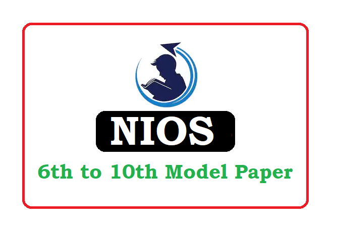 NIOS 6th Class Model Test Paper 2020, NIOS 6th Class Question Paper 2020