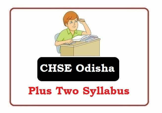 Odisha +2 Arts, Commerce, Science Syllabus 2020,  Odisha 12th Syllabus 2020
