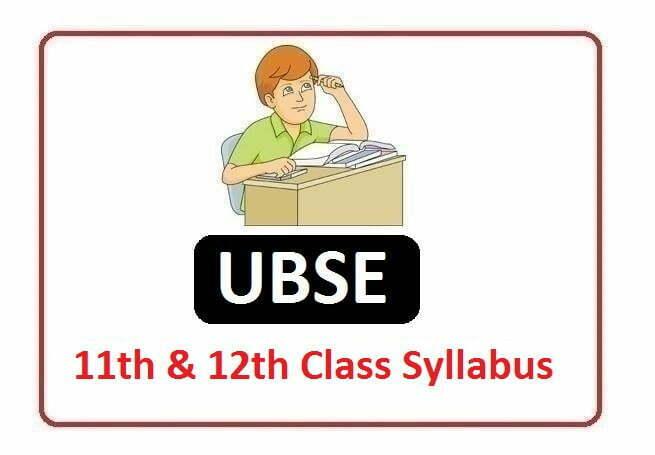 UBSE 11th & 12th Class Syllabus 2020, Uttarakhand Board 11th & 12th Class Syllabus 2020