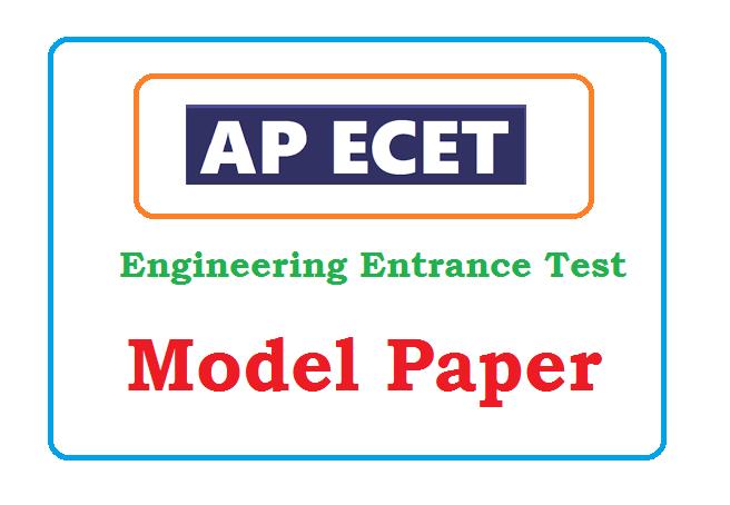 AP ECET Model Paper 2020
