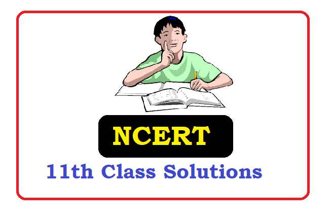 NCERT 11th Class Solutions 2021