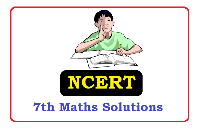 NCERT 7th Class Maths Solutions 2020