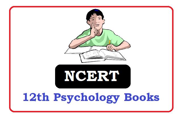 NCERT  12th class Psychology Books 2020, NCERT  12th class Psychology Textbooks 2020