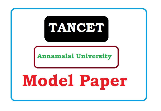 TANCET Model Paper 2020