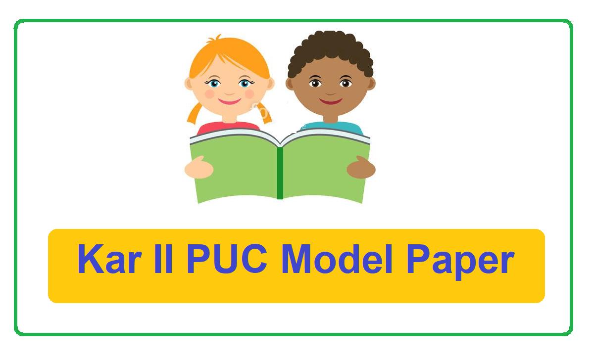 Kar II PUC Model Paper 2022
