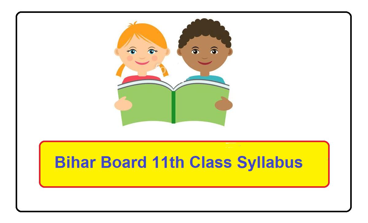 Bihar Board 11th Class Syllabus